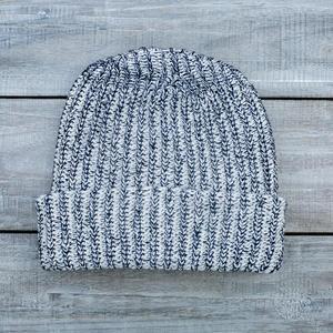 American Knit Beanie - NavyXNatural