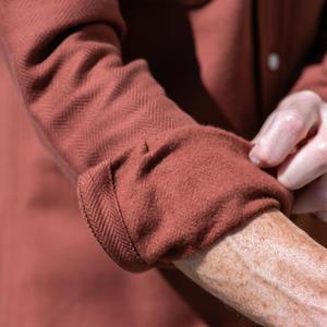 #643 Brushed Back Herringbone - Burnt Orange
