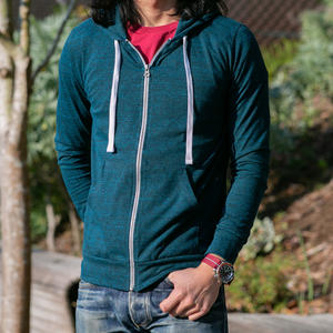 Superlight Heather Zip Hoodie - Sea Blue