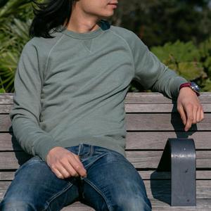USA Crewneck Sweatshirt - Green-Grey