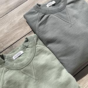USA Crewneck Sweatshirt 2PK - Stone, Green-Grey