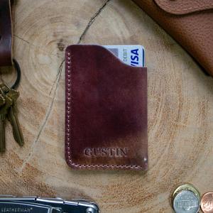 Horween Shell Cordovan Corner Wallet - #8 Marbled