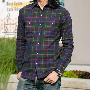 #706 Open Weave Herringbone Plaid - Hunter