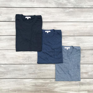 Heather Pocket T-Shirt 3PK - Blues Collection