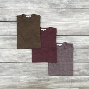 Heather Pocket T-Shirt 3PK - Rust Collection