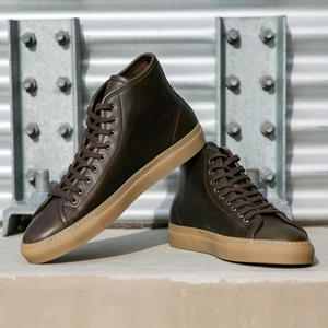 Horween Brown Olive Chromexcel High Top