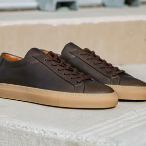 Horween Brown Olive Chromexcel Low Top