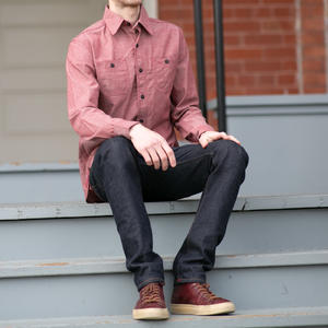 Rust Red Chambray Workshirt