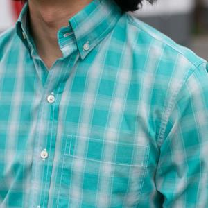 #734 Turquoise Fade Plaid