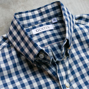 #738 Selvedge Navy Gingham