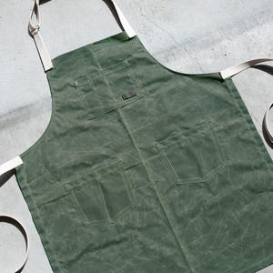 Waxed Canvas Apron - Olive
