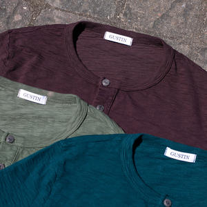Big Slub Henley 3 Pack