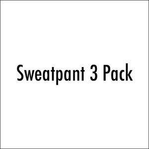 Sweatpants 3 Pack (Black, Heather Grey, Vintage Navy)
