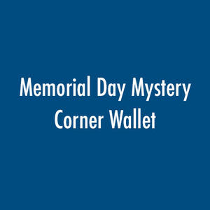 Memorial Day Mystery Corner Wallet