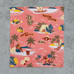 #697 Aloha Hawaiian Short Sleeve - Salmon