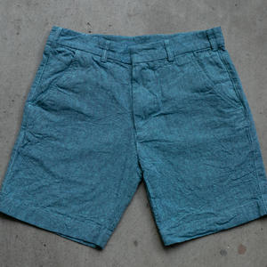 #38 Linen Chambray Chino Shorts - Crystal Ocean
