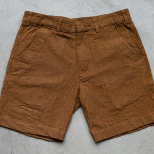 #39 Linen Chambray Chino Shorts - Bright Rust