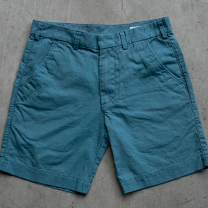 Linen Solid Chino Shorts - Teal