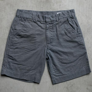 Linen Solid Chino Shorts - Iron