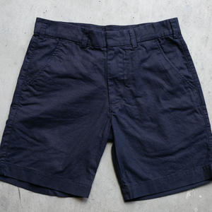 Linen Solid Chino Shorts - Navy