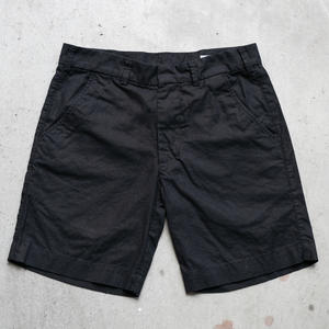 Linen Solid Chino Shorts - Black