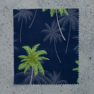 #703 Navy Palms Short Sleeve Shirt