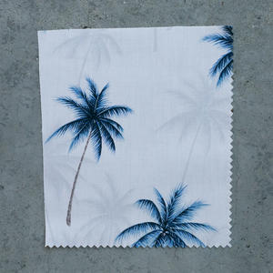 #700 Cream Palms Short Sleeve Shirt