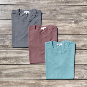 Heavyweight Pigment Dye T-Shirt 3 Pack (Ash, Seafoam, Burgundy)