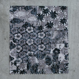 #706 Tropical Collage Short Sleeve - Black