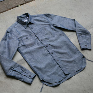 #43 Indigo Linen Chambray Workshirt