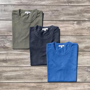 Heavyweight Pigment Dye T-Shirt 3 Pack (Moss, Shallow Blue, Coal)