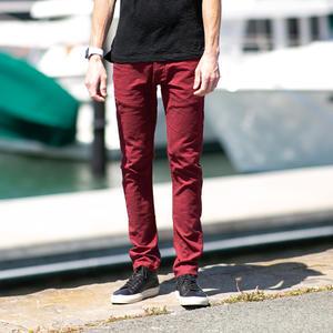 #22 Linen Solid 5 Pocket - Deep Red