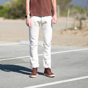 #485 Big Linen Selvedge - CreamXKhaki
