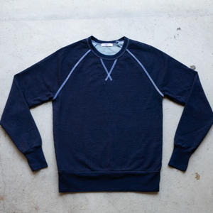 Dark Indigo White Stitch Sweatshirt