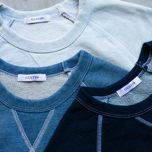 Indigo Dyed White Stitch Sweatshirt 3 Pack