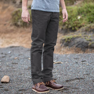 #208 Charcoal Duck Canvas Chino