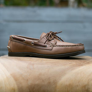 Horween CXL Natural Boat Shoe