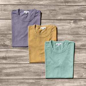 Heavyweight Pigment Dye T-Shirt 3 Pack (Faded Purple, Faded Camel, Faded Green)