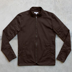 Shell Jacket - Brown Stretch Twill