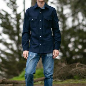 #10 Navy Wool CPO