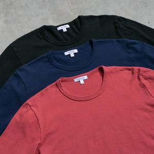Long Sleeve Heavyweight T-Shirt 3 Pack (Navy, Red, Black)