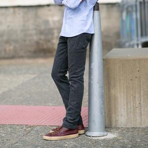 #49 Wool Herringbone 5 Pocket - CharcoalXBlack