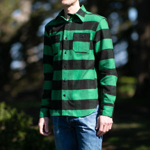 #52 Selvedge Big Flannel Workshirt - GreenXBlack