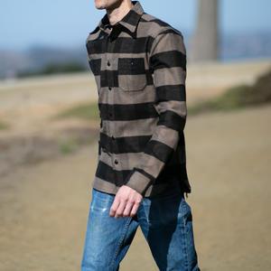 #53 Selvedge Big Flannel Workshirt - BrownXBlack