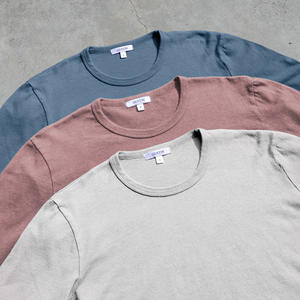 Long Sleeve Heavyweight Pigment Dye T-Shirt 3 Pack (Oatmeal, Faded Rose, Ocean)
