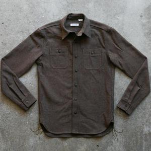 #57 BrownXBlack Wool Herringbone Workshirt