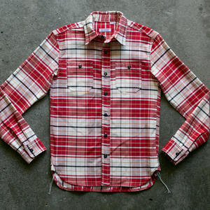 #60 Retro Selvedge Plaid Workshirt - Red