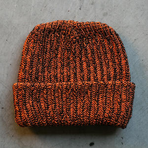 American Knit Beanie - BlackXOrange