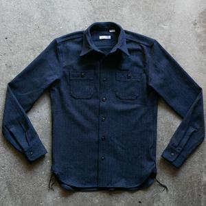#61 Dark Heather Indigo Wool Herringbone Workshirt