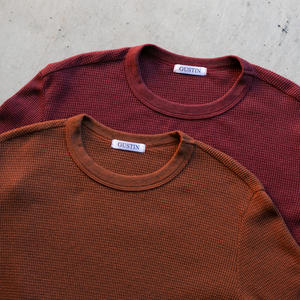 Waffle Crewneck 2PK (Burnt Orange, Deep Red)